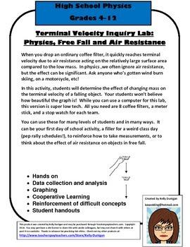 Terminal Velocity Low Tech Lab - Physics