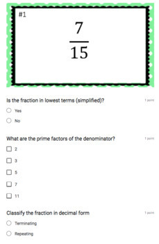Terminating & Repeating Decimals (Google Form, Interactive Video Lesson & Notes)