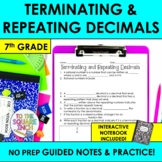 Terminating and Repeating Decimals Notes