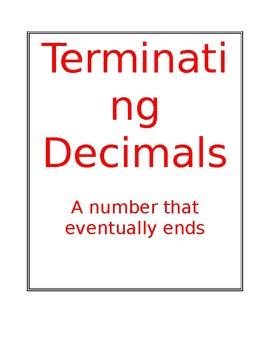 Terminating and Repeating Decimals poster