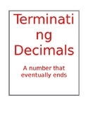 Terminating and Repeating Decimals poster