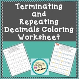 Terminating and Repeating Decimals Coloring Worksheet 7.NS.A.2.d