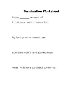 Termination Worksheet