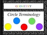 Terminology of Circles