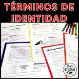Términos de identidad: worksheets for Heritage Speakers