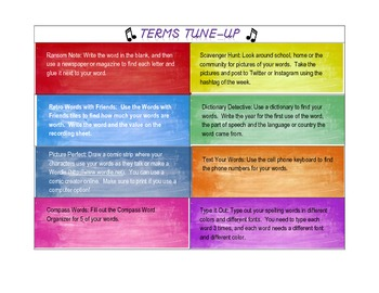 Terms Tune-Up