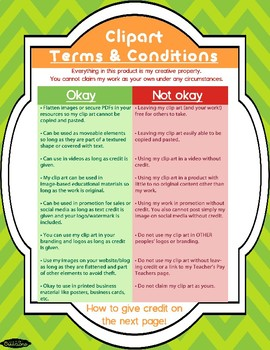 Terms and Conditions for Clip Art