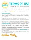 Terms of Use Agreement [Full-On Sunshine Clip Art]