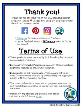 Terms of Use: ELL Breaking Barriers