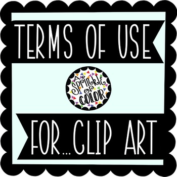 Terms of Use... For Clip Art