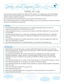 Terms of Use - Little Bird Digital Art