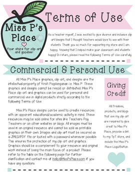 Terms of Use & Logo [Miss P's Place]