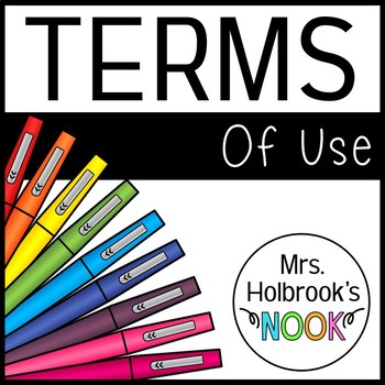 Terms of Use - Mrs. Holbrook's Nook
