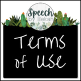 Terms of Use - Speech by Bekah