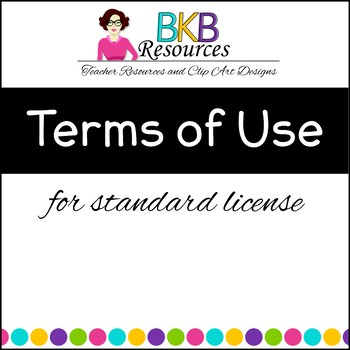 Terms of Use for Clip Art - BKB Resources