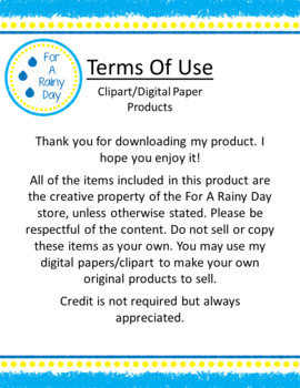 Terms of Use for Clipart & Digital Paper