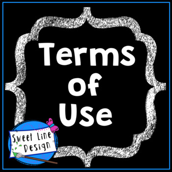 Terms of Use for Clipart {Sweet Line Design}