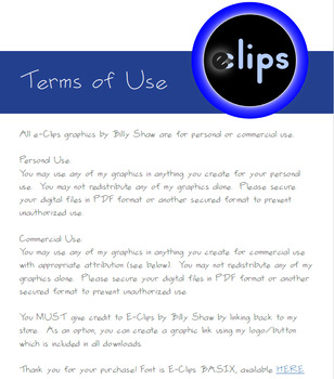 Terms of Use for E-Clips by Billy Shaw