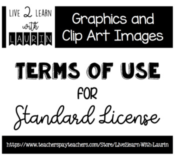 Terms of Use for Graphic and Clip Art Images (Live2Learn with Laurin)