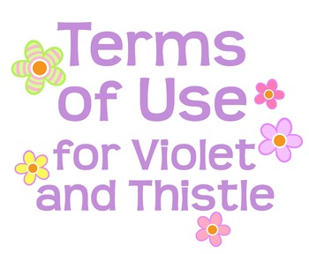 Terms of Use for Violet and Thistle Digital Clipart