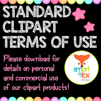 Terms of Use for all Clipart - Simplified in Download/Details in Description