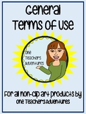 Terms of Use for all products by One Teacher's Adventures