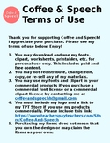 Terms of Use | Coffee & Speech Products