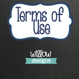 Terms of Use - Willow Designs on TpT Conditions