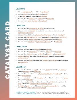 Terra Forma Cards: Cross Curricular Catalyst Questions