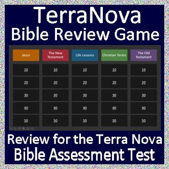 TerraNova Bible Assessment Test Review Game!  Jeopardy Style