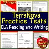 TerraNova ELA Test Prep Reading and Writing Practice Tests Terra Grades 6, 7 + 8