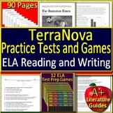 TerraNova Test Prep Bundle Reading and Writing Practice Tests + 12 ELA Games
