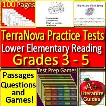 TerraNova Test Prep Reading Practice Tests - Grades 3 - 5 Terra Nova