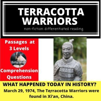 Terracotta Warriors Differentiated Reading Passage March 29