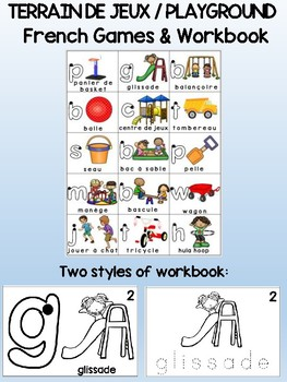 Terrain de jeux / Playground - FRENCH Games & Workbook Combo