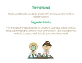 Terrarium Activity and Worksheets