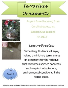 Terrarium Ornaments - Project Based Learning Instructions for Plant Ornaments.