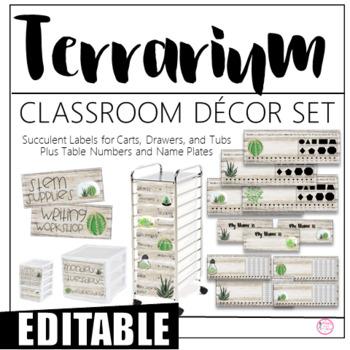 Terrarium/Succulent Classroom Decor Set