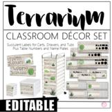 Terrarium/Succulent Classroom Decor Set (EDITABLE)