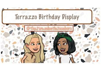 Terrazzo Birthday Display