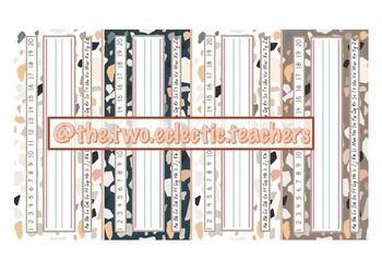 Terrazzo Desk Plates/Tags