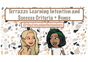 Terrazzo Learning Intention and Success Criteria