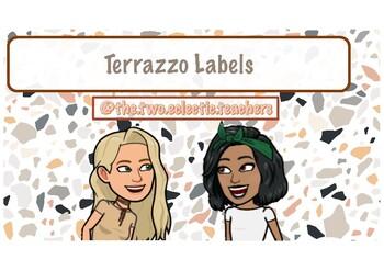 Terrazzo labels