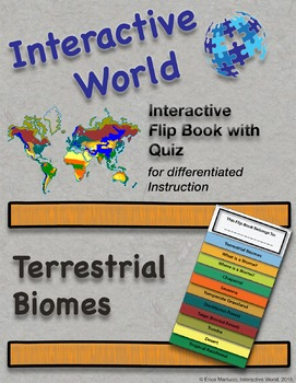 Terrestrial Biomes Interactive Flip Book and Quiz