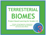 Terrestrial Biomes Project Based Learning, NGSS 3rd Grade Alignment