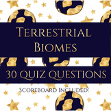 Terrestrial Biomes Review Quiz