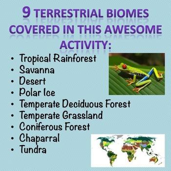 Terrestrial Biomes Task Cards