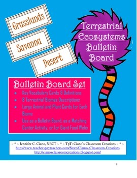 Terrestrial Ecosystem Bulletin Board Set