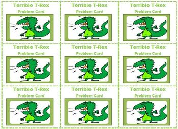 Terrible T-Rex Has Lost His Taffy: A Division Matching Game