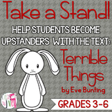 Terrible Things Mentor Text Lesson: Upstander vs. Bystander #kindnessnation